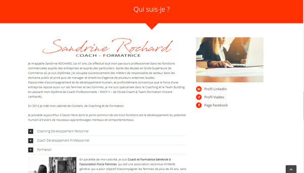 site internet pour coach