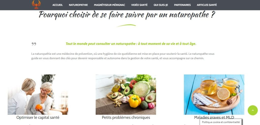 creation site internet pour naturopathe